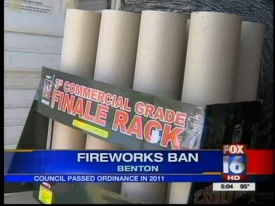 Benton fireworks ban_222616170048210689