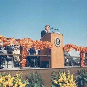 President John F. Kennedy in Arkansas on October 3, 1963._4983002504065075187