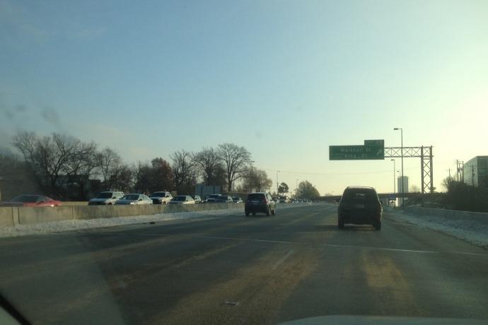 Interstate 630 Traffic Dec. 10, 2013, morning rush hour._6431503972303521684