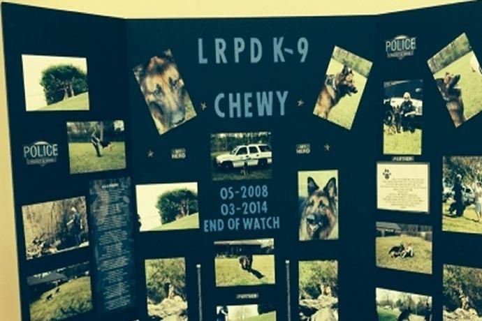 Little Rock Police Department K-9 Chewy Memorial Service_5779147213877233925