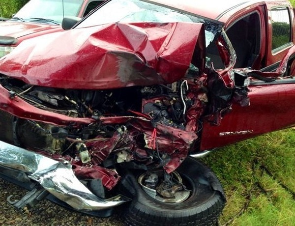 Pickup truck after Sept. 16 accident in Russellville_5992762817085130687