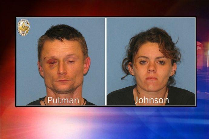 Putnam and Johnson mugs Benton arrest_95126810498583809