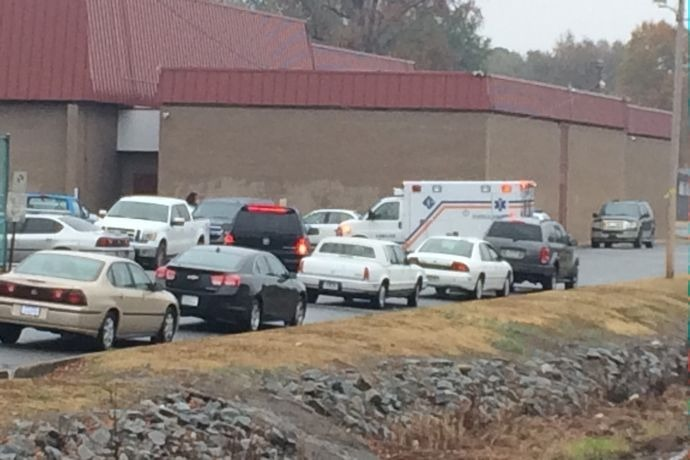 Ambulance at LR's McClellan High School on Nov. 21._694585929131508660