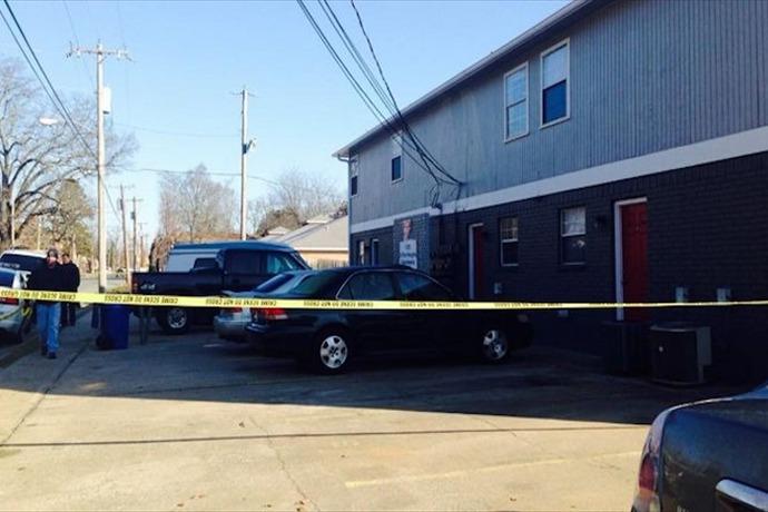Scene of undercover drug task force agent's shooting on Feb. 3 in Faulkner County._-3157475912935718649
