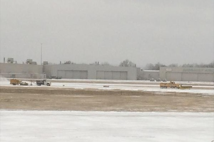 Clinton National Airport after Feb. 23 snowfall_-6933046854376927924