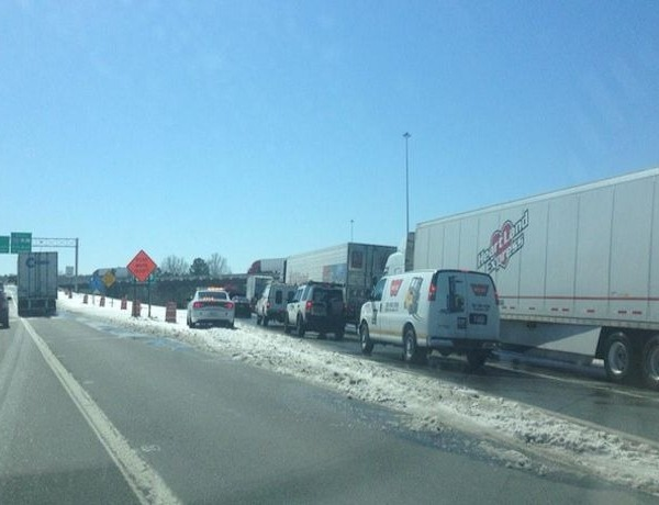 I-30 traffic backed up to downtown from 65th St. area accident_-2273904828900880992
