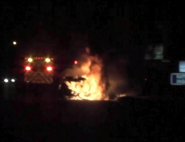 Springdale car fire on West Huntsville Avenue_1405364984416784009