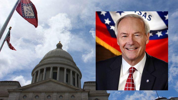 Gov. Asa Hutchinson and State Capitol