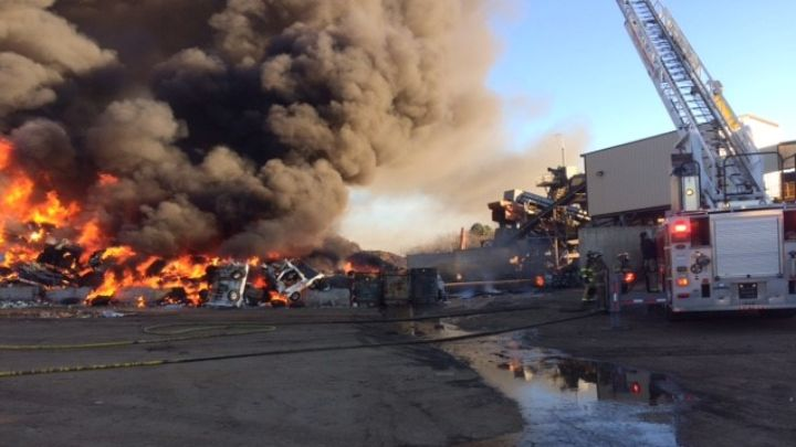 Texarkana Fire at Metal Plant