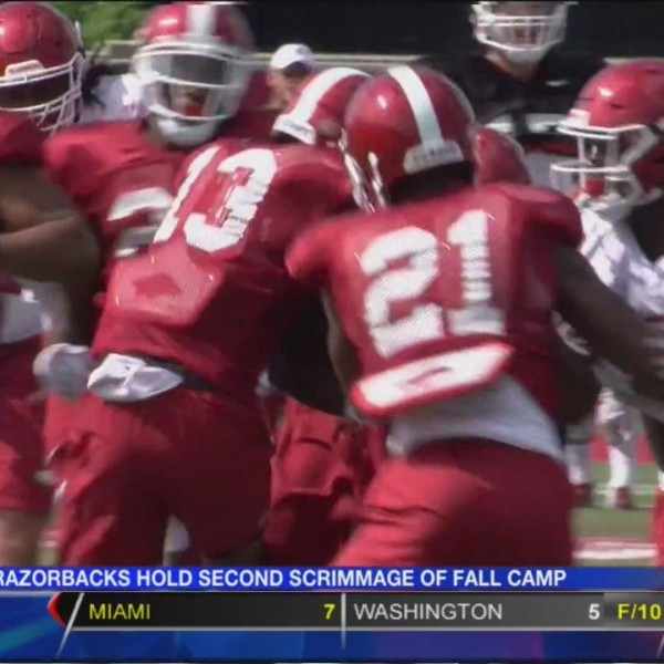 Razorbacks Hold Second Scrimmage of Fall Camp
