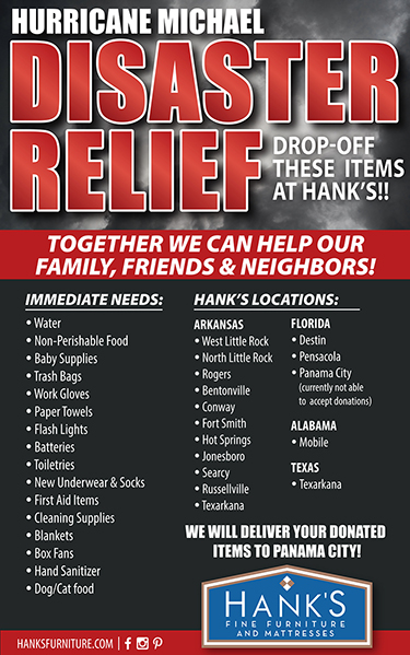 Hank S Fine Furniture Collecting Donations For Hurricane Relief