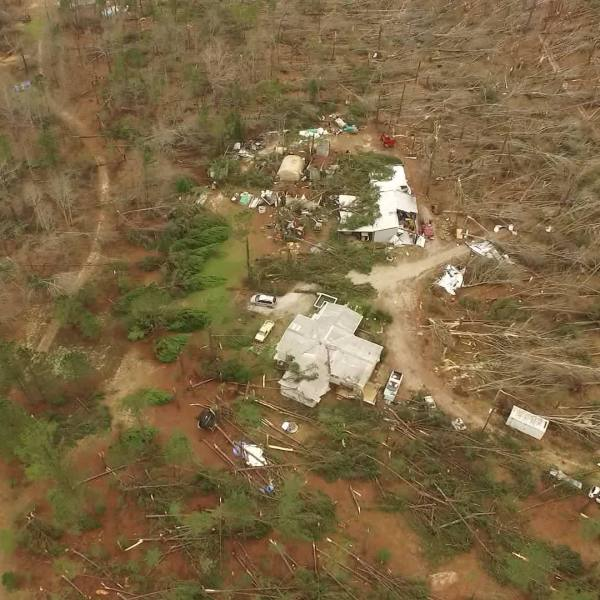 Lee County Damage Aerials