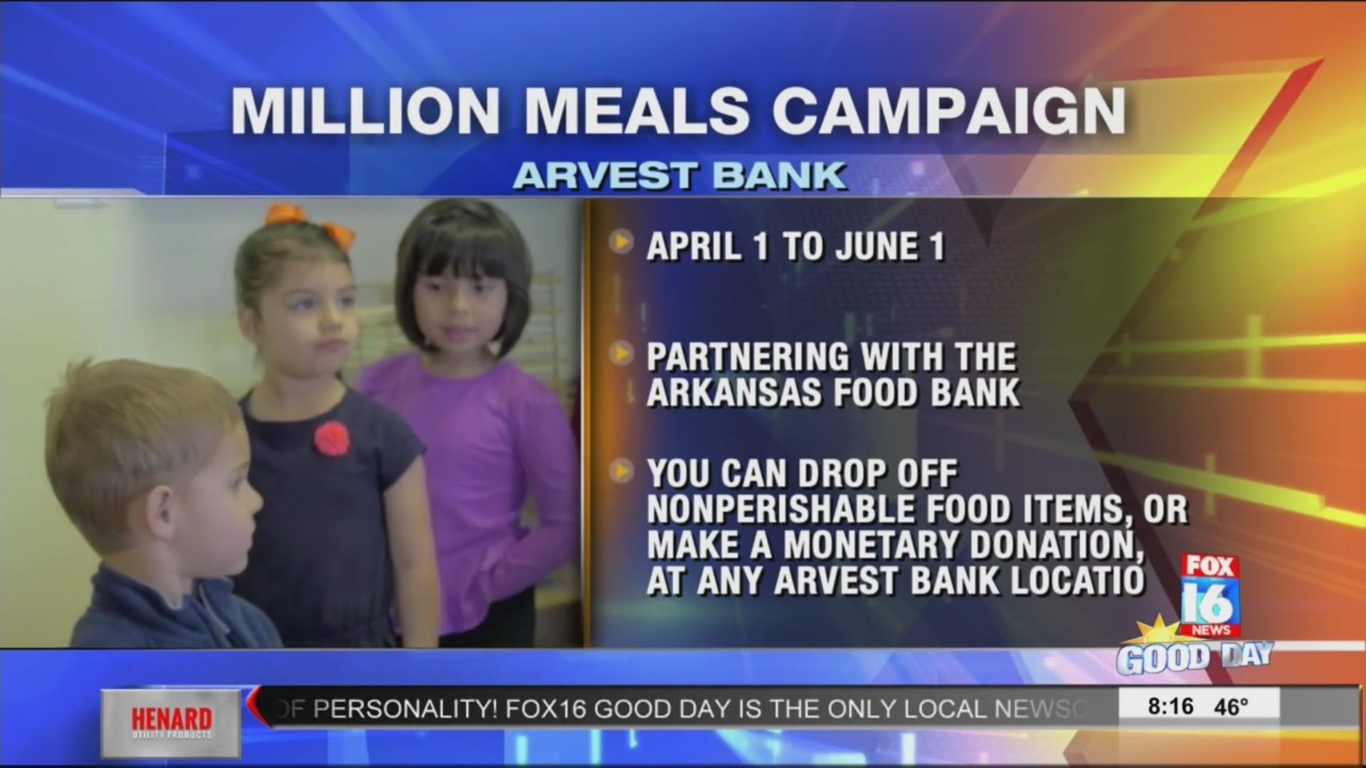 Arvest Bank Million Meals
