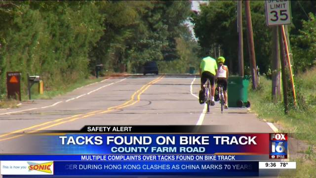 Tacks found on Big Dam Bridge race route
