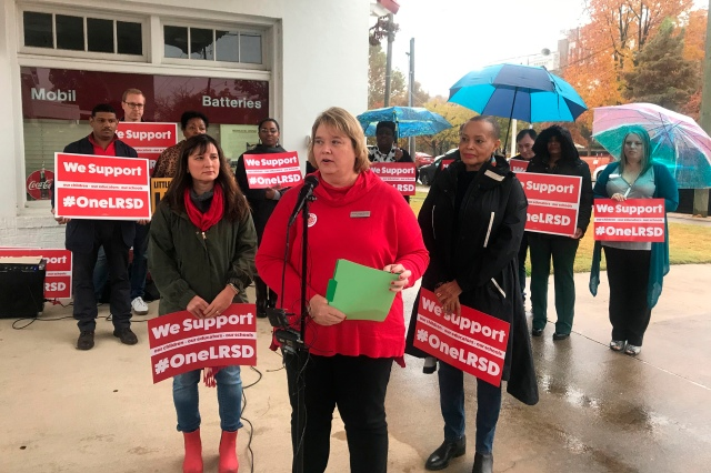 2020 Presidential candidates weigh in on teacher's union One-Day Protest against LRSD