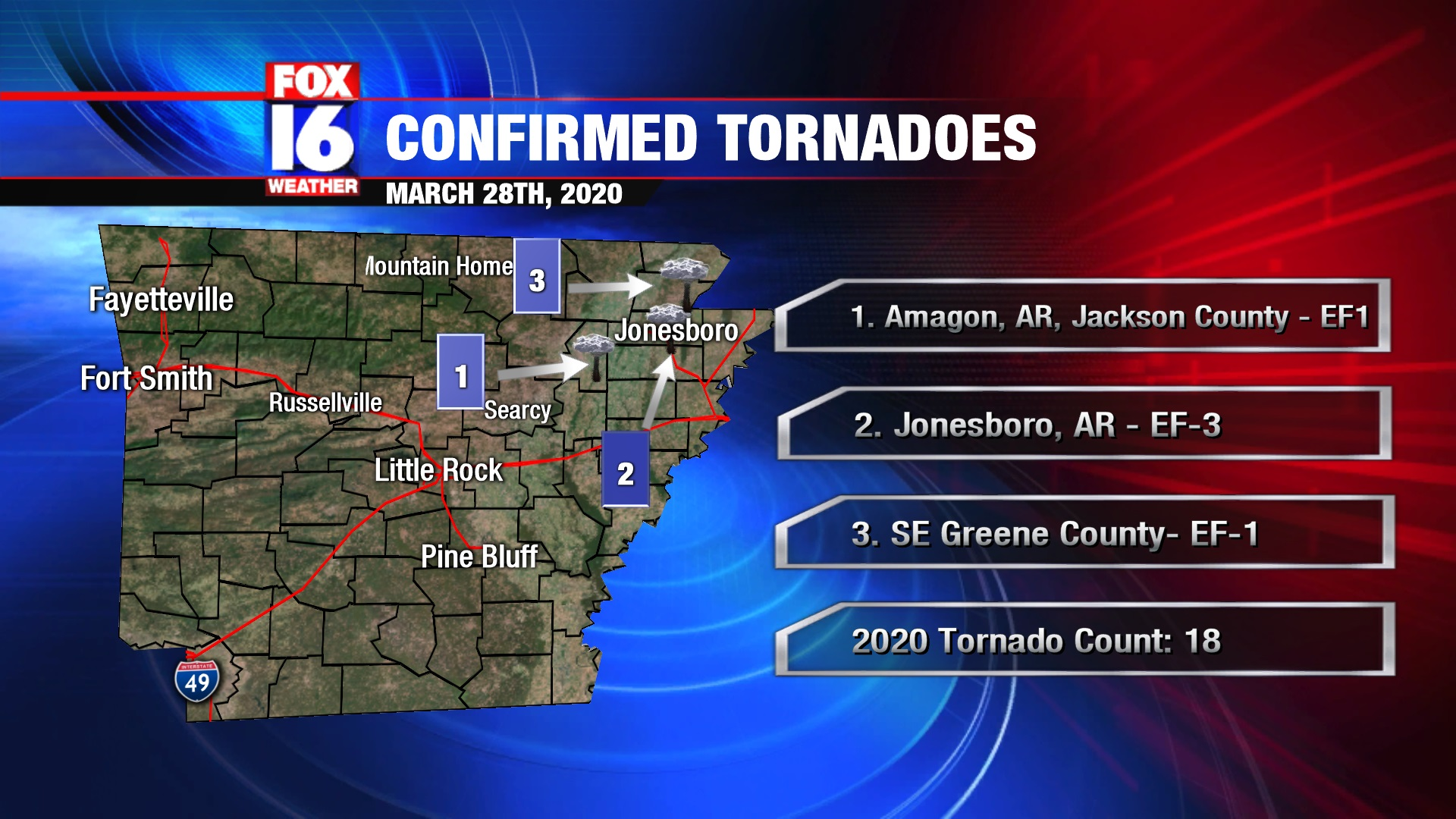 Ef 3 Tornado Confirmed Along With Two Others From March 28th Severe Event
