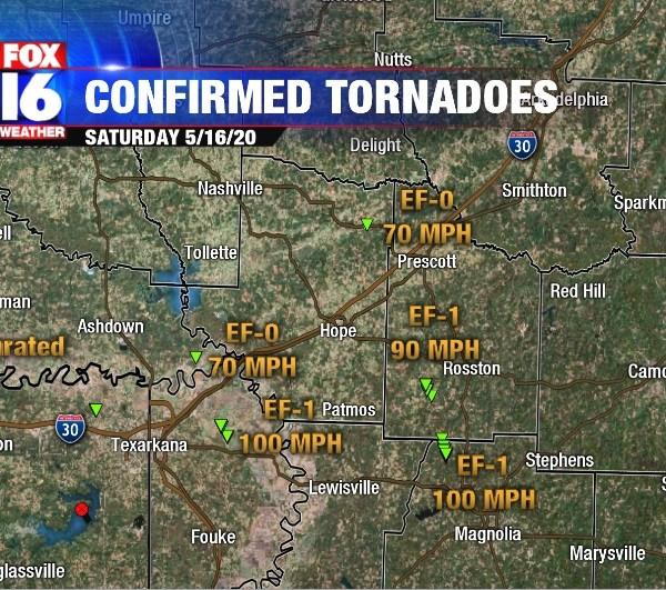 confirmed tornadoes
