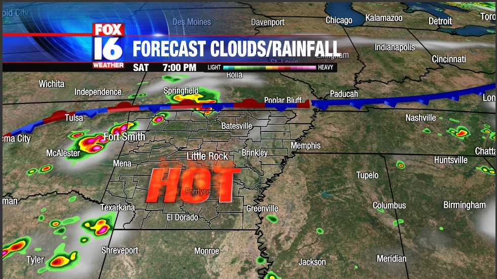 hot storms weekend
