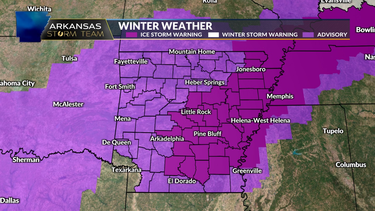 Freezing Rain to Create Icy Conditions Today, Thursday