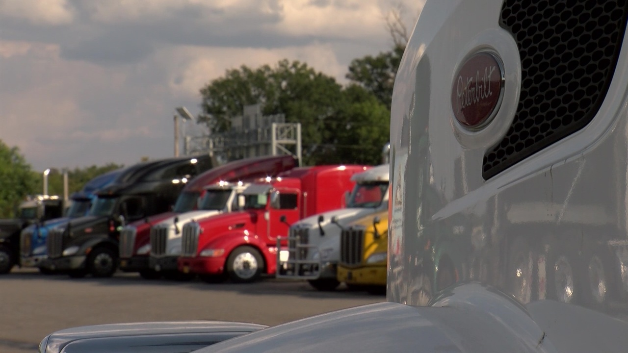Supply chain issues keeping store shelves bare is also leaving tractor-trailers parked